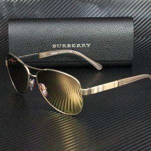 Burberry Matte Rose Gold Mirrored 59mm Sunglasses